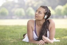 Free Girl And Headphones Stock Photography - 14948682