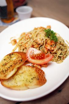 Free Seafood Spaghetti Stock Photography - 14948992