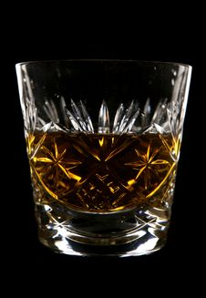 Whiskey In Crystal Glass Stock Images