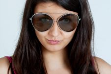 Woman With Glasses Royalty Free Stock Photos