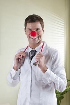 Clown Doctor Portrait Royalty Free Stock Image