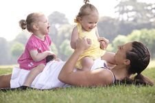 Free Mother Playing With Daughters Stock Images - 14949984
