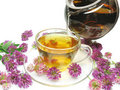 Free Pouring Herbal Tea Into Glass Cup Stock Photo - 14950350