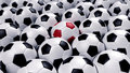 Free Group Of Soccer Balls Royalty Free Stock Photography - 14951127