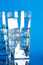 Free Glasses With Cold Water Royalty Free Stock Photos - 14951838