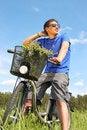 Free Man Riding A Bike Stock Photos - 14954843