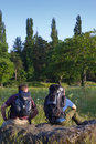 Free Backpackers In Sunny Field Royalty Free Stock Images - 14955389