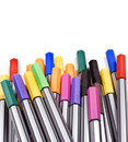 Free Colourful Pens On A White Background Royalty Free Stock Photography - 14955457