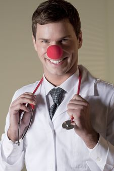 Clown Doctor Portrait Royalty Free Stock Images