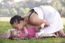 Free Mother Playing With Daughter Stock Photography - 14950132