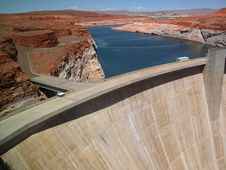 Glen Canyon Dam Near Lake Powell Royalty Free Stock Photo