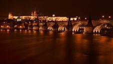 Charles Bridge With Prague Castle Royalty Free Stock Image