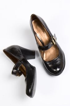 Patent Leather Shoes Royalty Free Stock Photography