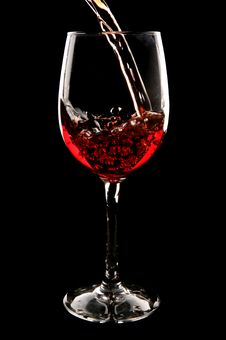 Free Red Wine Being Poured Royalty Free Stock Photography - 14952027