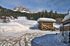 Free Snow On The Dolomites Mountains, Italy Royalty Free Stock Photos - 14952738