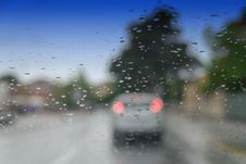 Free Traffic And Water Drops Stock Photography - 14952922