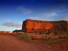 Road Of Monument Valley At Sunset Stock Images