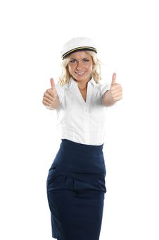 Free Image Of A Sailor Girl Holding Thumbs Up Royalty Free Stock Photos - 14952948