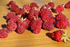Ripe Appetizing Raspberry Stock Photo