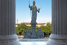 Free Pallas Athene In Front Of Vienna Parliament Stock Images - 14953484