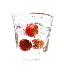 Cherries Are In Glass Royalty Free Stock Images