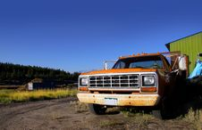 Old Rustic Truck Stock Photo