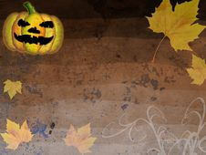 Grunge Autumn Halloween Background Royalty Free Stock Image