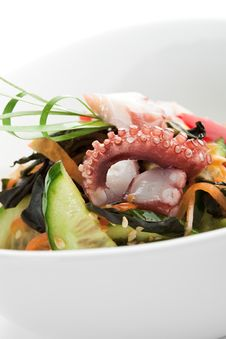 Free Octopus Salad Royalty Free Stock Photography - 14954067