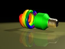 Rainbow Compact Fluorescent Lamp Royalty Free Stock Photo