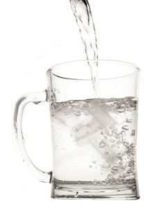 Water In Pint Glass Royalty Free Stock Photography