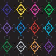 Background With Varicolored Ornament. Stock Images