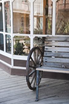 Free Old Cowboy Bench Royalty Free Stock Image - 14955416