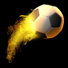 Free Burning Soccer Stock Photos - 14955663