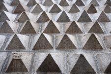 Free Pyramid Textured Wall Royalty Free Stock Image - 14955666