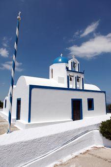 Free Santorini Church Royalty Free Stock Photo - 14956515