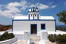 Free Santorini Church Royalty Free Stock Photo - 14956575