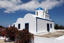 Free Santorini Church Stock Image - 14956611