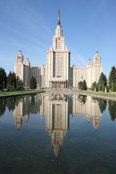 Lomonosov Moscow State University, Main Building. Stock Images