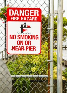 Free Warning Fire Hazard Royalty Free Stock Photography - 14958077