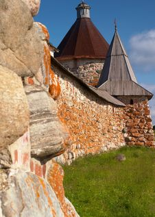 Free Towers Of Solovetsky Monastery Royalty Free Stock Images - 14958279