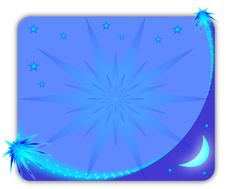 Blue Starry Picture Frame Stock Image