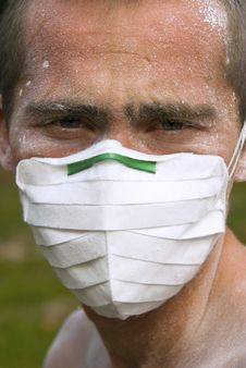 Free Worker In Protective Mask Royalty Free Stock Image - 14959076