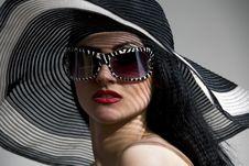 Free Model In Striped Hat Stock Photo - 14959190