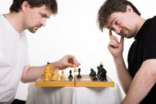 Free Two Men Play A Chess Royalty Free Stock Photos - 14959478