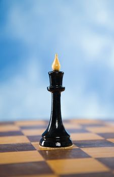 Free Chess Figure On A Chessboard Stock Image - 14959531