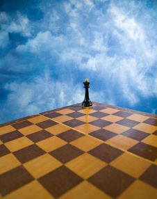 Free Chessmen On A Chessboard Stock Photo - 14959540