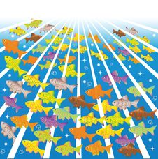 Free Fishes In Sea Depths Stock Image - 14959811
