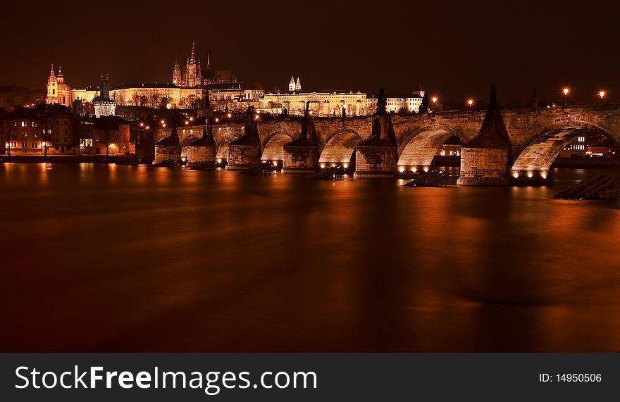 Charles Bridge with Prague castle