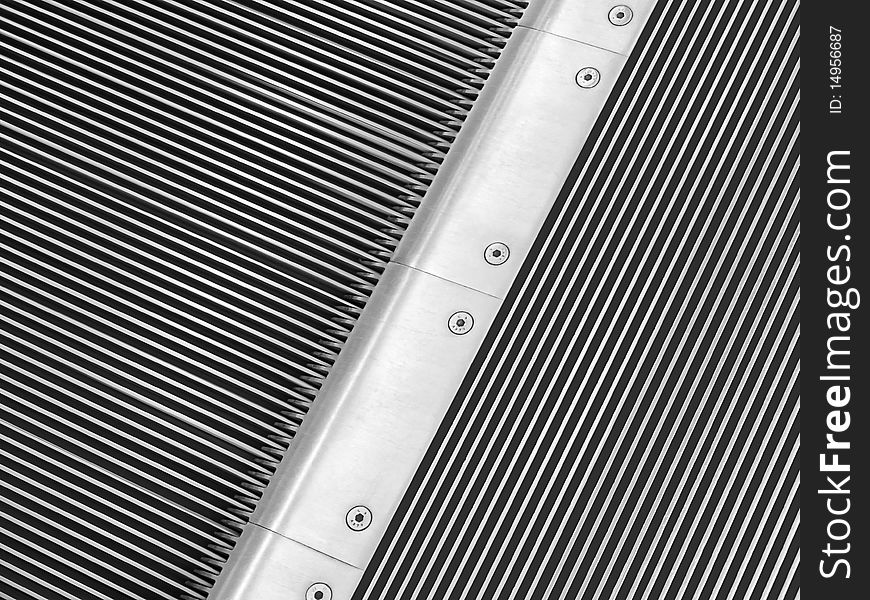 Escalator closeup