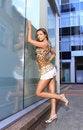 Free Grey Eyed Brunette In White Shorts Stock Image - 14965621